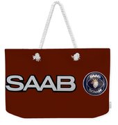Saab Logo And Emblem Weekender Tote Bag
