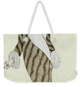 Sable Coat With White Fox Trim Weekender Tote Bag