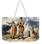 Sacagawea With Lewis And Clark During Their Expedition Of 1804-06 Weekender Tote Bag by Newell Convers Wyeth