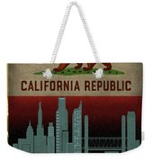 Sacramento City Skyline State Flag Of California Art Poster Series 023 Weekender Tote Bag