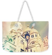Sacre Coeur Church Vintage Shabby Chic Style Weekender Tote Bag