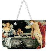 Sacred And Profane Love Weekender Tote Bag