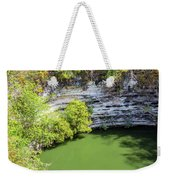Sacred Cenote Vertical View Weekender Tote Bag