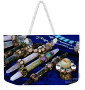 Sacred Gemstones Energy Amulets Crystal Balls Magic Wands Weekender Tote Bag