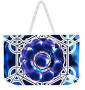 Sacred Geometry Blue Shapes Background Weekender Tote Bag