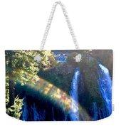Sacred Geometry Rainbow Weekender Tote Bag