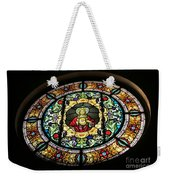 Sacred Heart Of Jesus Stained Glass Window Weekender Tote Bag