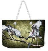 Sacred Ibis Photobombing Weekender Tote Bag