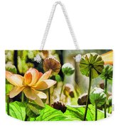 Sacred Lotus Painted Series Weekender Tote Bag