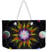Sacred Planetary Geometry - Dark Red Atom Weekender Tote Bag