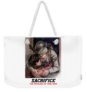 Sacrifice - The Privilege Of Free Men Weekender Tote Bag