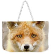 Sad Eyed Fox Of The Lowlands - Red Fox Portrait Weekender Tote Bag
