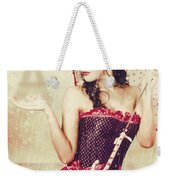 Sad French Pin-up Woman. Loss In The City Of Love Weekender Tote Bag