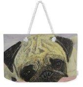 Snugly  Pug Weekender Tote Bag