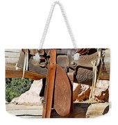 Saddle On Ranch Fence Weekender Tote Bag