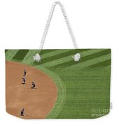 Safeco Field Abstract Patterns With Ground Crew Preparing Field  Weekender Tote Bag