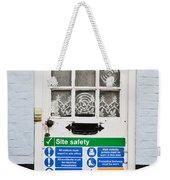 Safety Sign Weekender Tote Bag