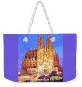Sagrada Familia At Night Weekender Tote Bag