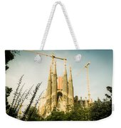 Sagrada Familia With Catalonia's Flag Weekender Tote Bag