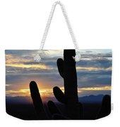 Saguaro National Park Sunset Landscape Weekender Tote Bag