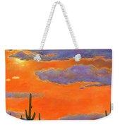Saguaro Sunset Weekender Tote Bag by Johnathan Harris