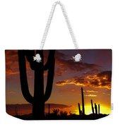 Saguaro Sunset Silhouette #2 Weekender Tote Bag