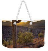 Saguaros At Sunset Weekender Tote Bag
