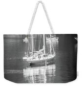 Sail Boat Yaht Parked At Harbor Bay Weekender Tote Bag