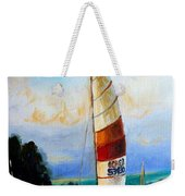 Sail Boats On The Lake Weekender Tote Bag