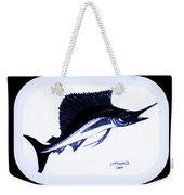 Sail Fish In Black And White Watercolor Weekender Tote Bag