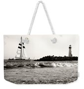 Sailboat And Lighthouse 2 Weekender Tote Bag