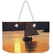Sailboat And Sunset, South River Weekender Tote Bag