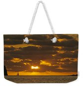 Sailboat As The Sun Sets Weekender Tote Bag