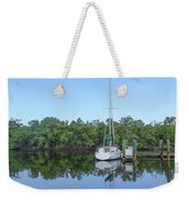 Sailboat At Dock Florida Weekender Tote Bag