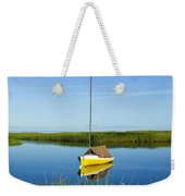 Sailboat In Cape Cod Bay Weekender Tote Bag