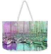 Sailboat Lineup - Watercolor Weekender Tote Bag