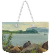 Sailboat Near Croton Landing Weekender Tote Bag