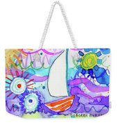 Sailboat With Sun Weekender Tote Bag