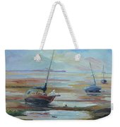 Sailboats At Low Tide Near Nelson, New Zealand Weekender Tote Bag