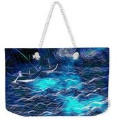 Sailboats In A Storm Weekender Tote Bag