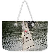 Sailboats In Central Park Weekender Tote Bag