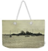 Sailboats In Gloucester Harbor Weekender Tote Bag
