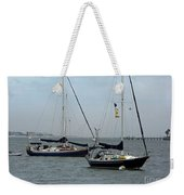 Sailboats In The Inlet Weekender Tote Bag