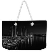 Sailboats Moored For The Evenin Weekender Tote Bag