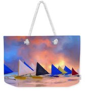 Sailboats On Boracay Island Weekender Tote Bag