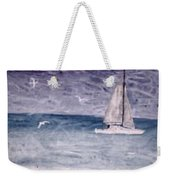 Sailing At Night Nautical Painting Print Weekender Tote Bag