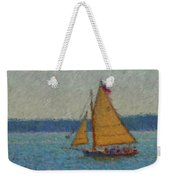 Sailing At Spruce Point Boothbay Harbor Maine Weekender Tote Bag