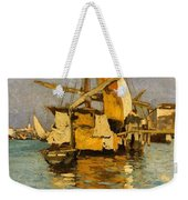 Sailing Boat On The Canale Della Giudecca Weekender Tote Bag