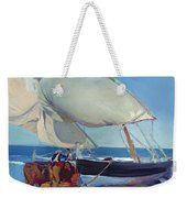 Sailing Boats Weekender Tote Bag by Joaquin Sorolla y Bastida