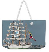 Sailing By The Battery Weekender Tote Bag